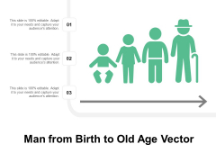 Man From Birth To Old Age Vector Ppt PowerPoint Presentation Model Pictures