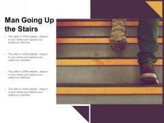 Man Going Up The Stairs Ppt PowerPoint Presentation Slides Example Topics