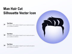 Man Hair Cut Silhouette Vector Icon Ppt PowerPoint Presentation Pictures Design Ideas PDF