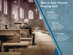 Man In Holy Church Praying God Ppt PowerPoint Presentation Gallery Picture