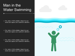 Man In The Water Swimming Ppt PowerPoint Presentation Layouts Mockup