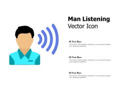 Man Listening Vector Icon Ppt PowerPoint Presentation Layouts Deck