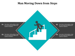 Man Moving Down From Steps Ppt PowerPoint Presentation Slides Tips