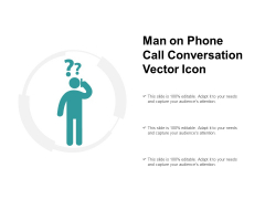 Man On Phone Call Conversation Vector Icon Ppt PowerPoint Presentation Inspiration
