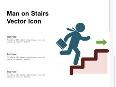 Man On Stairs Vector Icon Ppt PowerPoint Presentation Portfolio Images