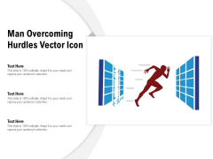 Man Overcoming Hurdles Vector Icon Ppt PowerPoint Presentation Layouts Ideas