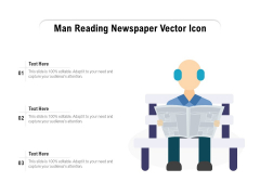 Man Reading Newspaper Vector Icon Ppt PowerPoint Presentation File Outline PDF