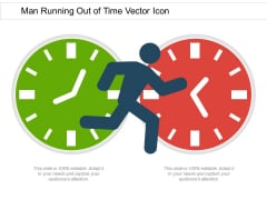 Man Running Out Of Time Vector Icon Ppt PowerPoint Presentation Infographic Template Show PDF