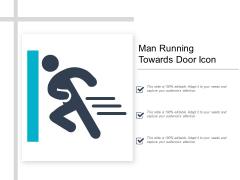 Man Running Towards Door Icon Ppt Powerpoint Presentation Layouts Topics