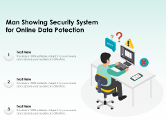 Man Showing Security System For Online Data Protection Ppt PowerPoint Presentation Layouts Model PDF