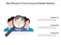 Man Silhoutte Of Focus Group And Market Research Ppt PowerPoint Presentation Inspiration Smartart PDF