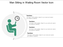 Man Sitting In Waiting Room Vector Icon Ppt PowerPoint Presentation Infographics Background