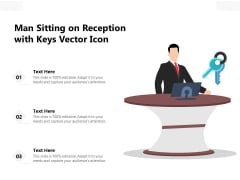 Man Sitting On Reception With Keys Vector Icon Ppt PowerPoint Presentation Icon Inspiration PDF