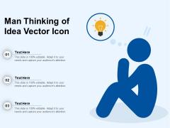 Man Thinking Of Idea Vector Icon Ppt PowerPoint Presentation Icon Tips PDF