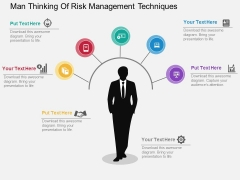 Man Thinking Of Risk Management Techniques Powerpoint Template