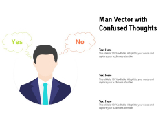 Man Vector With Confused Thoughts Ppt PowerPoint Presentation Outline Background