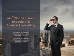 Man Watching From Binoculars For Business Forecasting Ppt PowerPoint Presentation Professional Pictures