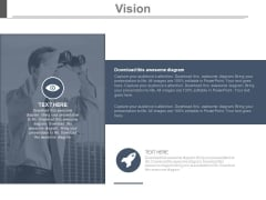 Man With Binoculars For Future Vision Layout Powerpoint Slides