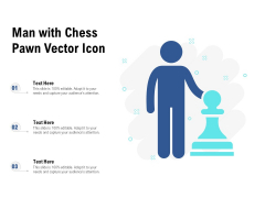 Man With Chess Pawn Vector Icon Ppt PowerPoint Presentation Slides Portrait