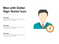 Man With Dollar Sign Vector Icon Ppt Powerpoint Presentation Summary Example Introduction