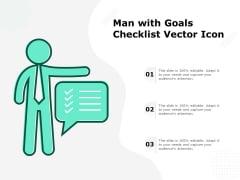 Man With Goals Checklist Vector Icon Ppt PowerPoint Presentation Portfolio Mockup