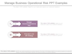 Manage Business Operational Risk Ppt Examples