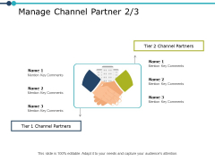Manage Channel Partner Planning Ppt PowerPoint Presentation Infographic Template Clipart Images