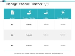 Manage Channel Partner Strategy Ppt PowerPoint Presentation Pictures Demonstration
