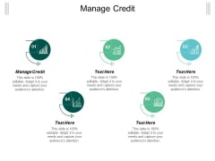 Manage Credit Ppt PowerPoint Presentation Ideas Elements Cpb