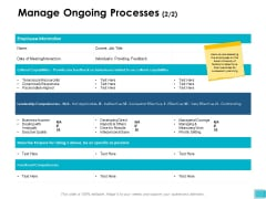 Manage Ongoing Processes Information Ppt PowerPoint Presentation Infographic Template