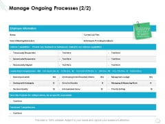 Manage Ongoing Processes Planning Ppt PowerPoint Presentation Deck