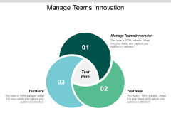 Manage Teams Innovation Ppt PowerPoint Presentation Pictures Example Topics Cpb