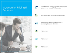 Managed IT Services Pricing Model Agenda For Pricing IT Services Demonstration PDF