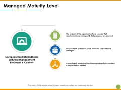 Managed Maturity Level Ppt PowerPoint Presentation Styles Layout Ideas