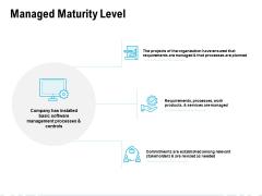 Managed Maturity Level Ppt PowerPoint Presentation Summary Tips