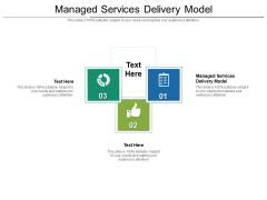 Managed Services Delivery Model Ppt PowerPoint Presentation Inspiration Master Slide Cpb Pdf