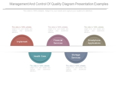 Management And Control Of Quality Diagram Presentation Examples
