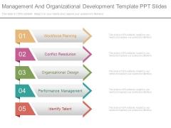 Management And Organizational Development Template Ppt Slides