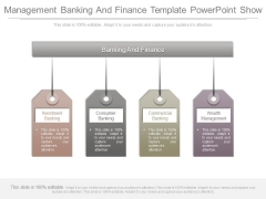 Management Banking And Finance Template Powerpoint Show