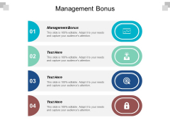 Management Bonus Ppt PowerPoint Presentation Summary Deck Cpb