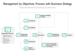 Management By Objectives Process With Business Strategy Ppt PowerPoint Presentation File Infographics PDF