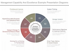 Management Capability And Excellence Example Presentation Diagrams