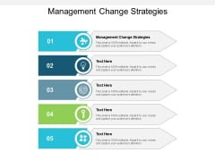 Management Change Strategies Ppt PowerPoint Presentation Slides Graphics Tutorials Cpb