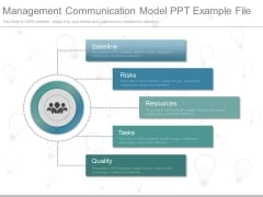 Management Communication Model Ppt Example File