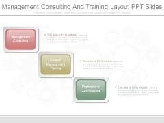 Management Consulting And Training Layout Ppt Slides