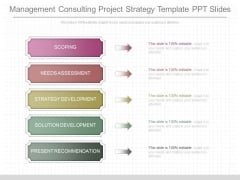Management Consulting Project Strategy Template Ppt Slides
