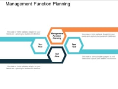 Management Function Planning Ppt Powerpoint Presentation Pictures Grid Cpb