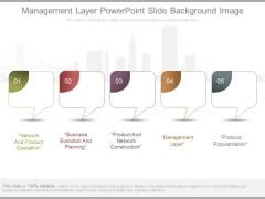 Management Layer Powerpoint Slide Background Image