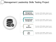 Management Leadership Skills Testing Project Management Hr Research Ppt PowerPoint Presentation Pictures Portrait