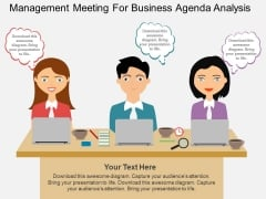 Management Meeting For Business Agenda Analysis Powerpoint Template